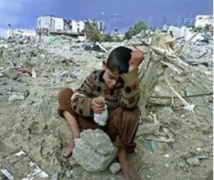 Gaza (niño entre las ruinas)