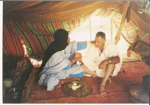 Javier Perote en los campamentos de refugiados saharauis