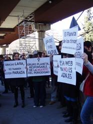 Manifestacion en Madrid de periodistas 2009