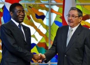 obiang-y-raul-castro