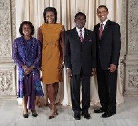 los-obiang-con-los-obama