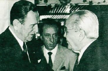 Juan Domingo Perón y Ricardo Balbín