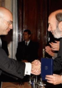 El juez Gómez Bermúdez y Pérez Rubalcaba