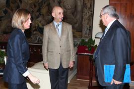 La-ministra de-Defensa con el consejero-delegado de EADS y el Director de Airbus Military y presidente de EADS en Espana