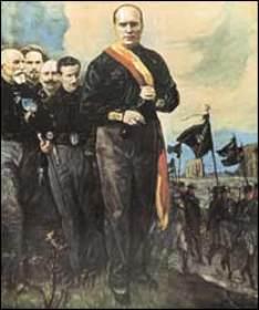 Benito Mussolini y sus camisas negras marchan sobre Roma