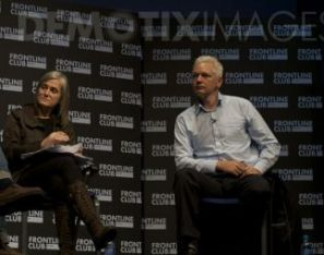 Amy Goodman y Julian Assange