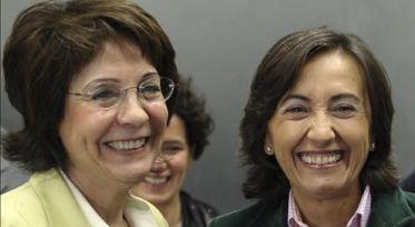 Comisaria de Pesca de la UE, Damanakis, y Rosa Aguilar de España