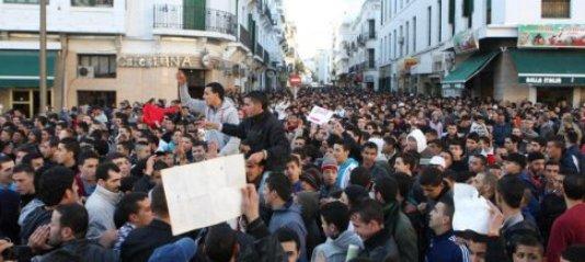 Manifestaciones en Marruecos