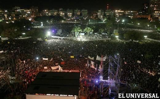 Manifestación en Israel (El Universal)