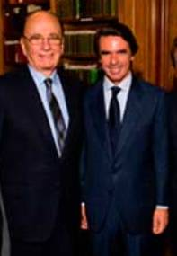Murdoch y Aznar