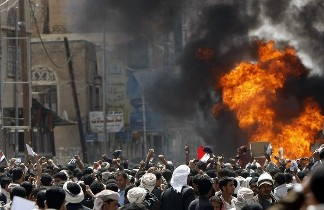 Manifestaciones en Yemen. Foto de Getty Images.