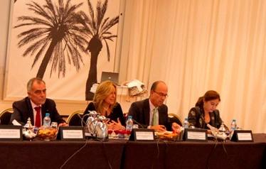 Trinidad Jiménez y  el Primer Ministro de Marruecos, Abbas el Fassi (Foto: MAEC)