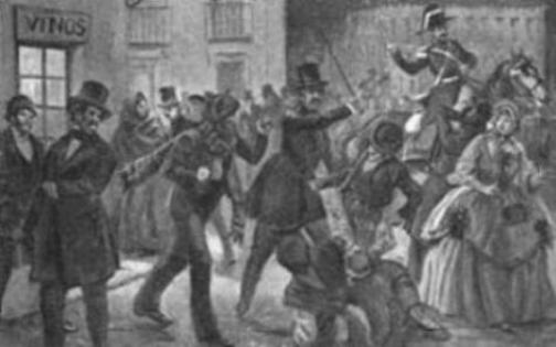 Revolución de 1868 que obligó a la reina Isabel II a exiliarse en París