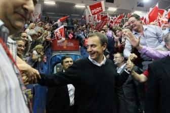 Zapatero, durante una de sus visitas a Murcia