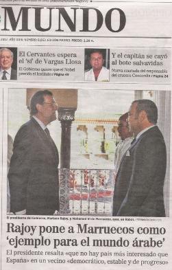 Primera visita de Rajoy a Marruecos en enero de 2012
