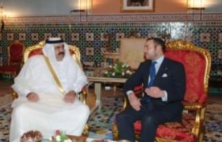 El emir de Qatar y el rey de Marruecos