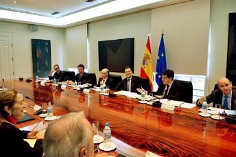 Mariano Rajoy preside la Comisión Delegada del Gobierno para Asuntos Económicos. Foto Moncloa.