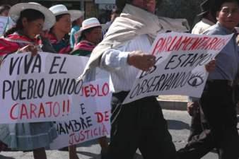 Protestas a causa de la actividad de REPSOL. Foto argentina.indymedia.org