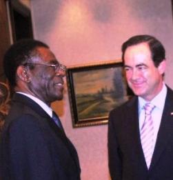 Teodoro Obiang y su amigo José Bono