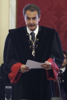 Zapatero en  la toma de posesión como Consejero de Estado