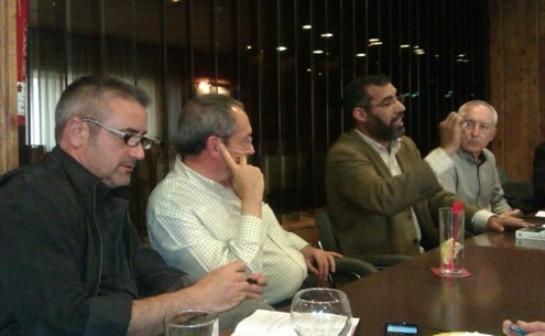 Antonio de Torre, Diego Camacho, Bucharaya Beyún y Eugenio Pordomingo