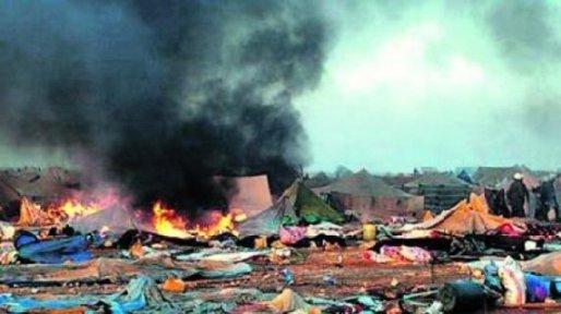 Campamento saharaui arrasado por Marruecos