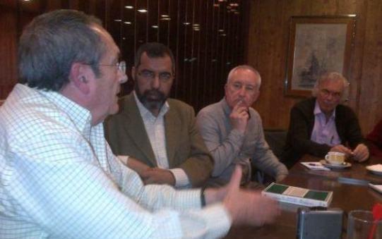 Diego Camacho, Bucharaya Beyún, Eugenio Pordomingo y Eugenio Sánchez