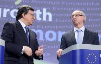 Durao Barroso y Janusz Lewandowski