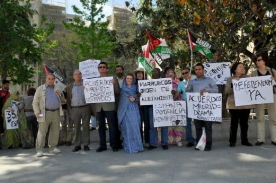 La APDHE se moviliza a favor del pueblo saharaui (Foto Ricardo Aznar)