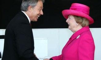 Tony Blair y Margaret Thatcher