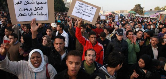 Manifestaciones en Marruecos. Foto RTVE.