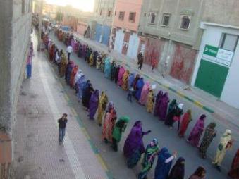 Reciente manifestación de mujeres contra la violación de los derechos humanos en el Sáhara Occidental ocupado por Marruecos