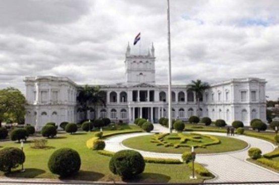 Antigua vista del Palacio de los López, Casa de Gobierno de Paraguay