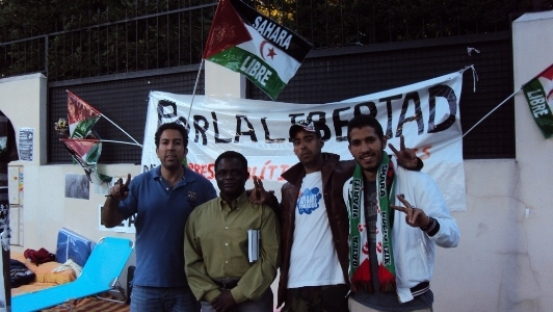 Chicampo con activistas saharauis