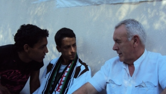 Lafkir Kaziza, Cayo Lara y un activista saharaui