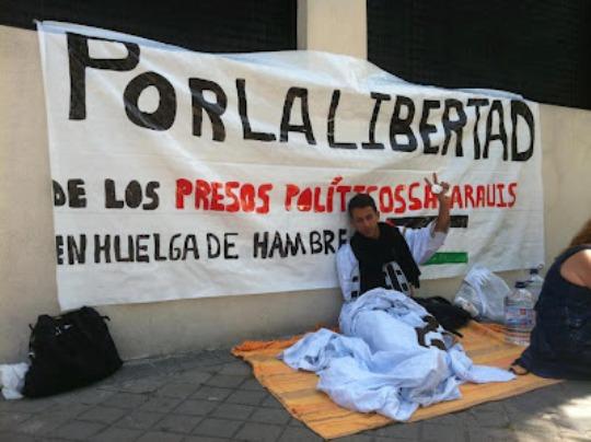 Lafkir Kaziza, en huelga de hambre