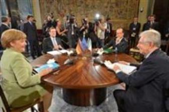 Mesa Redonda con Merkel, Hollande, ajoy y Monti