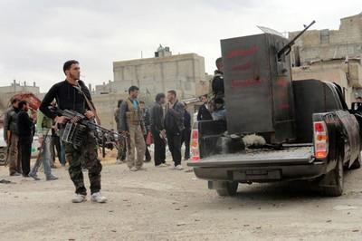 Rebeldes sirios armados  (Foto: hrw.org)