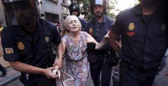 Manifestaciones en Madrid. Foto EFE