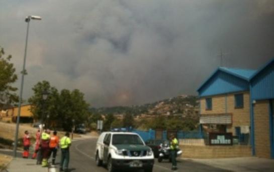Incendio en la sierra norte de Madrid. Foto EQUO