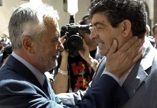 José Antonio Griñán y el Coordinador General de IULV-CA, Diego Valderas