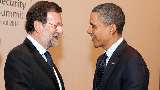 Rajoy y Obama. Foto La Moncloa