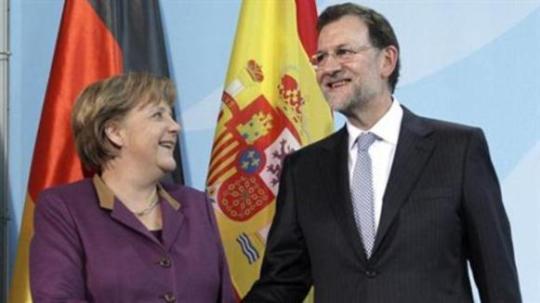 Angela Merkel y Mariano Rajoy. Foto La Moncloa.