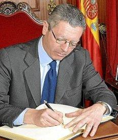 Alberto Ruíz-Gallardón, ministro de Justicia