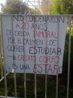 Protestas estudiantiles en Chile. Foto El Ciudadano
