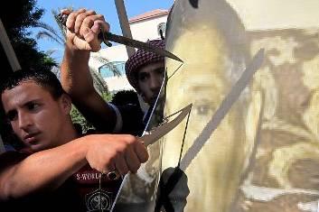 Violentas manifestaciones en países árabe. Foto propiedad del ´Londen Evening Standard´