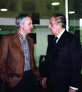 Eugenio Pordomingo y Sabino Fernández Campo