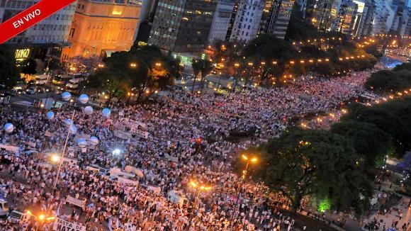 Manifestacion en Buenos Aires, Argentina. Foto Globedia