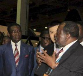Teodoro Obiang y Leandro Mbomio