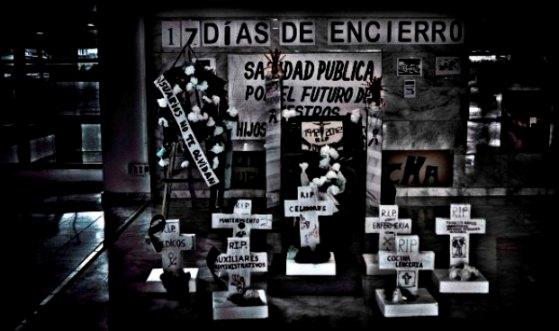 Escenografía del cementerio de la Sanidad Pública (Hospital Puerta de Hierro)